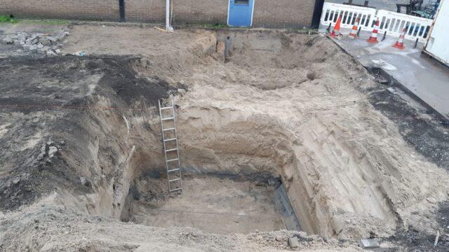 Nedabo B.V. - Het ontgraven van het cunet t.b.v. de OBAS.