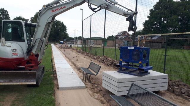 Nedabo B.V. - Het leggen van nieuwe betonplaten