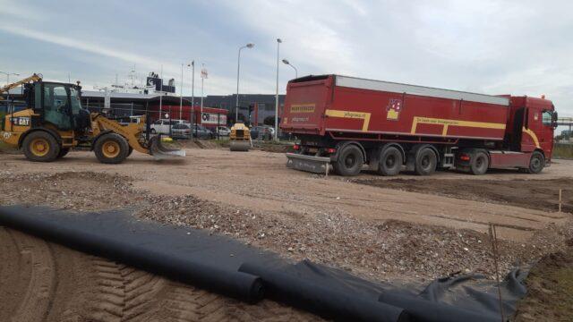 Nedabo B.V. - Het leveren en aanbrengen van puinbaan t.b.v betonplaten verharding