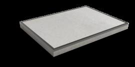 Nedabo Industrieplaat met stalen rand 200x150 cm